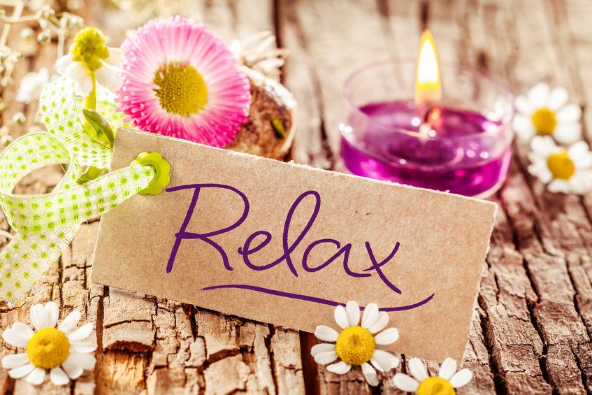 relax fleurs bougie